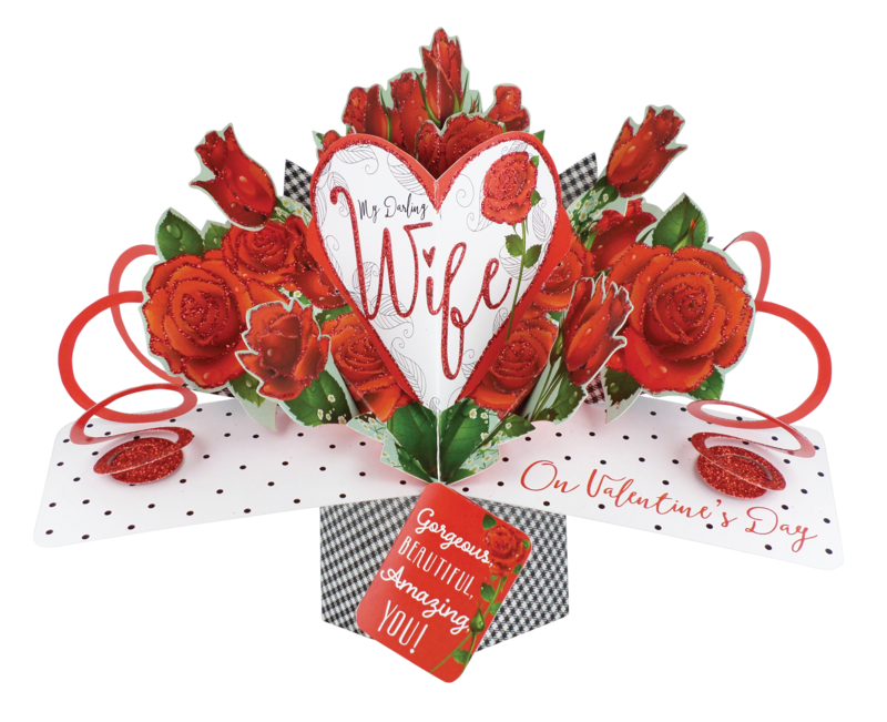 Second Nature Valentine's Day Pop Ups - Wife - Heart & Roses - product images