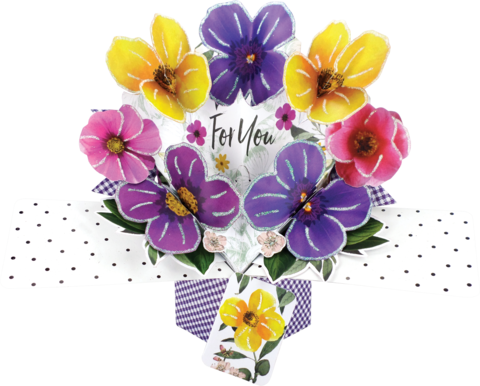 Second,Nature,Pop,Ups,-,Pansies,Second Nature Pop Ups, Original Pop-ups, Pop up greeting card, Pop up, Pop-up, Pop-ups, Pansies, Blank, Flowers, For You