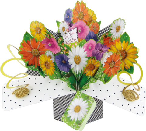 Second,Nature,Pop,Ups,-,Bunch,of,Flowers,(Gerberas),Second Nature Pop Ups, Original Pop-ups, Pop up greeting card, Pop up, Pop-up, Pop-ups, Birthday, Flowers, For You, Floral, Second Nature Pop Ups, Second