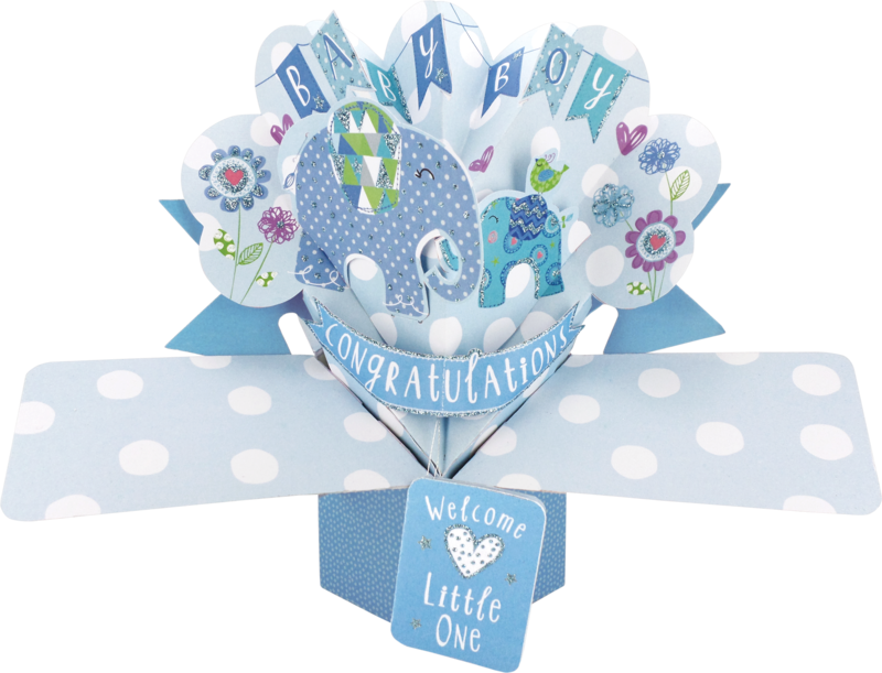 Second Nature Pop Ups - Baby Boy (Elephants) - product images