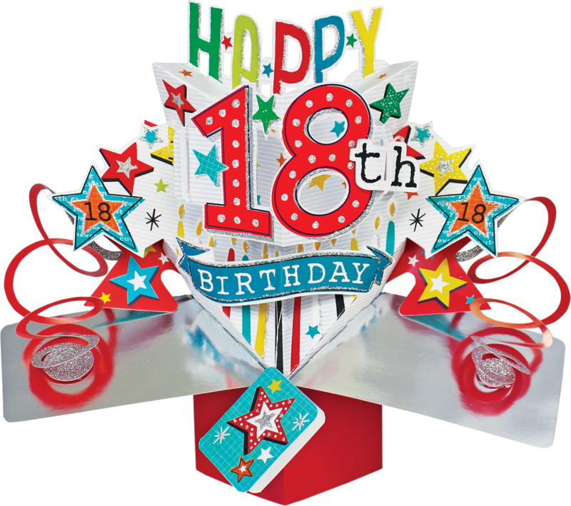 Second Nature Pop Ups - 18th Birthday (Stars) - product images