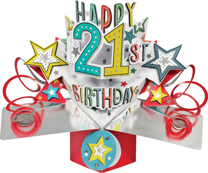 Second Nature Pop Ups - 21st Birthday (Stars) - product images