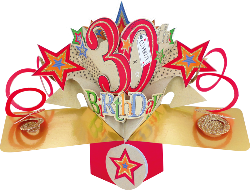 Second Nature Pop Ups - 30th Birthday (Stars) - product images