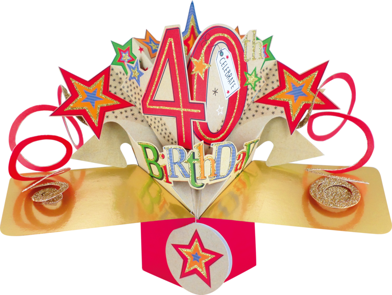 Second Nature Pop Ups - 40th Birthday (Stars) - product images