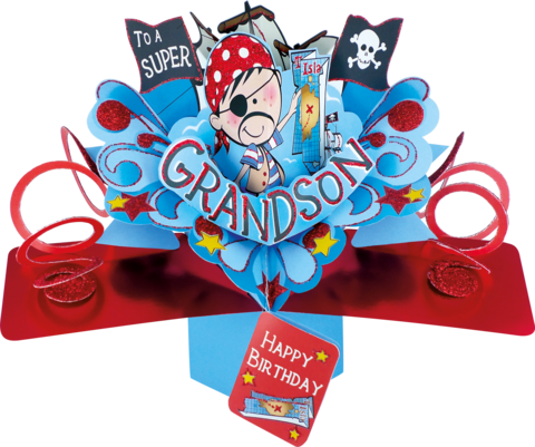 Second,Nature,Pop,Ups,-,Grandson,(Pirate),Second Nature Pop Ups, Original Pop-ups, Pop up greeting card, Pop up, Pop-up, Pop-ups, Birthday, Grandson, Pirate, Relation, Fun