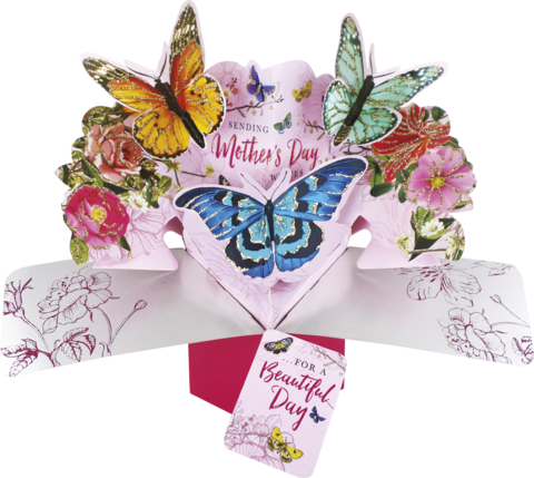 Second,Nature,Mother's,Day,Pop,Ups,-,Butterflies,Second Nature Pop Ups, Original Pop-ups, Pop up greeting card, Pop up, Pop-up, Pop-ups, Mother's day Pop Up, Mother day Pop Up, Butterflies