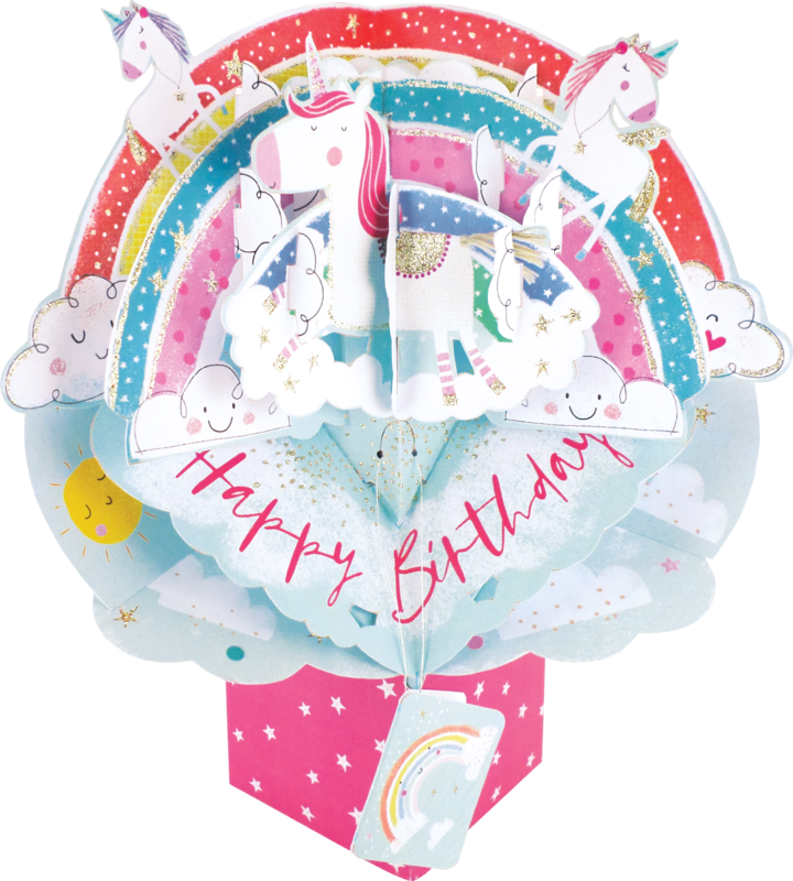 Second Nature Pop Ups - Rainbow With Unicorns - product images