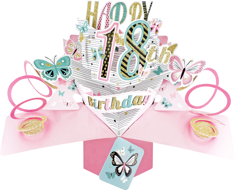 Second Nature Pop Ups - 18th Birthday (Butterflies) - product images