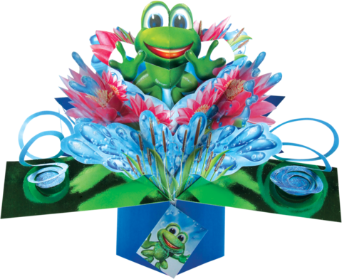 Second,Nature,Pop,Ups,-,Frog,Second Nature Pop Ups, Original Pop-ups, Pop up greeting card, Pop up, Pop-up, Pop-ups, Frog, Animal