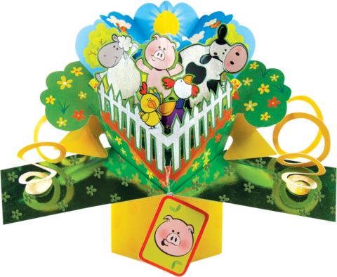 Second,Nature,Pop,Ups,-,Farmyard,Second Nature Pop Ups, Original Pop-ups, Pop up greeting card, Pop up, Pop-up, Pop-ups, Animals, Farmyard
