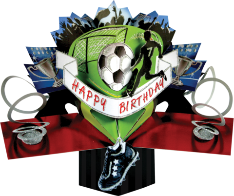 Second,Nature,Pop,Ups,-,Footballer,Second Nature Pop Ups, Original Pop-ups, Pop up greeting card, Pop up, Pop-up, Pop-ups, Sports, Football