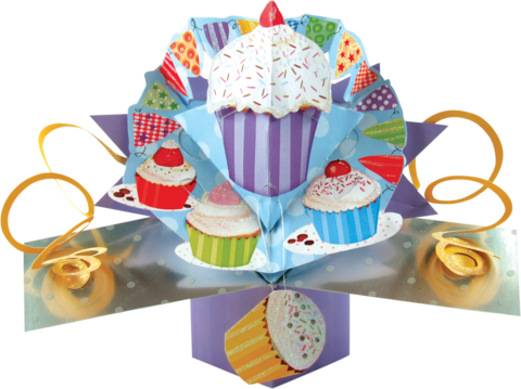 Second,Nature,Pop,Ups,-,Cupcakes,Second Nature Pop Ups, Original Pop-ups, Pop up greeting card, Pop up, Pop-up, Pop-ups, Cupcakes
