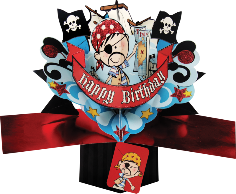 Second Nature Pop Ups - Happy Birthday (Pirate) - product images