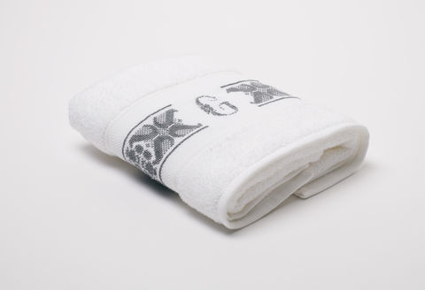 Hand-Embroidered Personalised Towel with Initial — G - product images  of