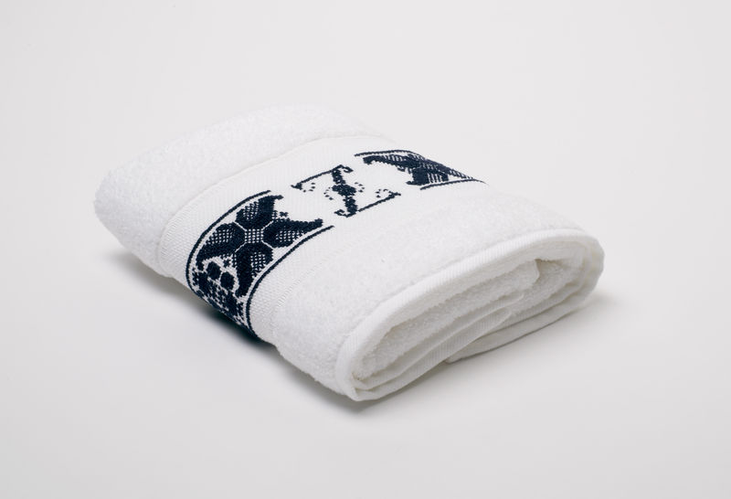 Hand-Embroidered Personalised Towel with Initial — Z - product images  of