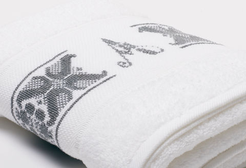 Hand-Embroidered Personalised Towel with Initial — A - product images  of