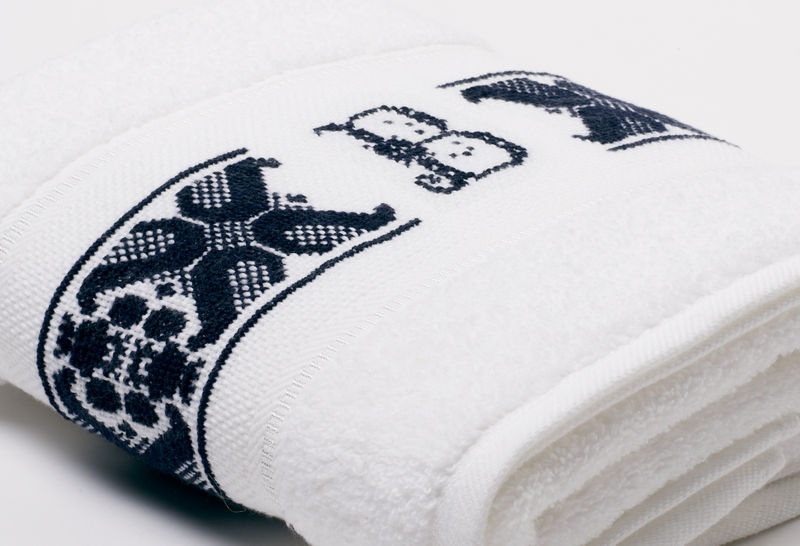 Hand-Embroidered Personalised Towel with Initial — B - product images  of