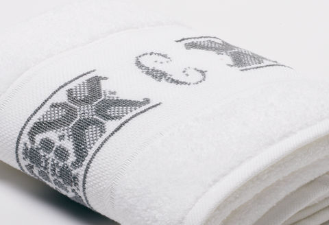 Hand-Embroidered Personalised Towel with Initial — C - product images  of
