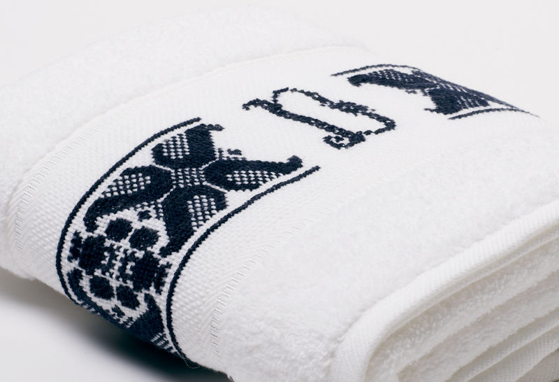 Hand-Embroidered Personalised Towel with Initial — D - product images  of