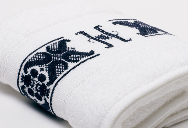 Hand-Embroidered Personalised Towel with Initial — H - product images  of