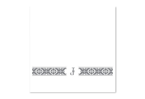 Hand-Embroidered Personalised Towel with Initial — J - product images  of