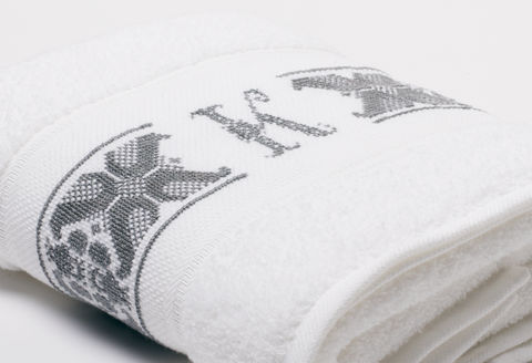 Hand-Embroidered Personalised Towel with Initial — K - product images  of