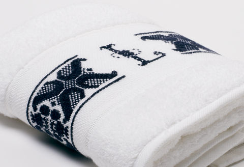 Hand-Embroidered Personalised Towel with Initial — L - product images  of