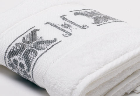 Hand-Embroidered Personalised Towel with Initial — M - product images  of