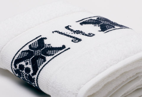 Hand-Embroidered Personalised Towel with Initial — N - product images  of