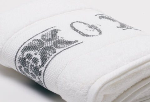Hand-Embroidered Personalised Towel with Initial — O - product images  of