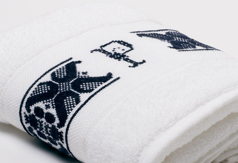 Hand-Embroidered Personalised Towel with Initial — P - product images  of