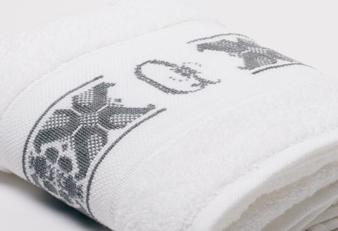 Hand-Embroidered Personalised Towel with Initial — Q - product images  of