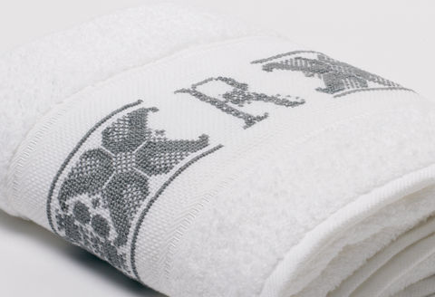 Hand-Embroidered Personalised Towel with Initial — R - product images  of