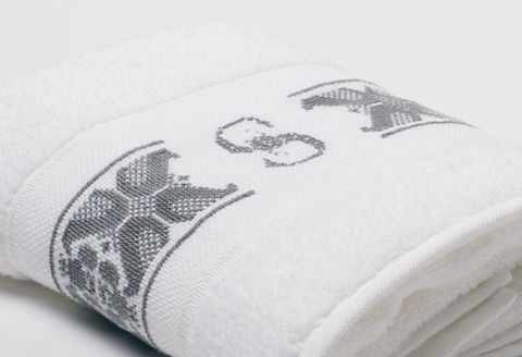 Hand-Embroidered Personalised Towel with Initial — S - product images  of