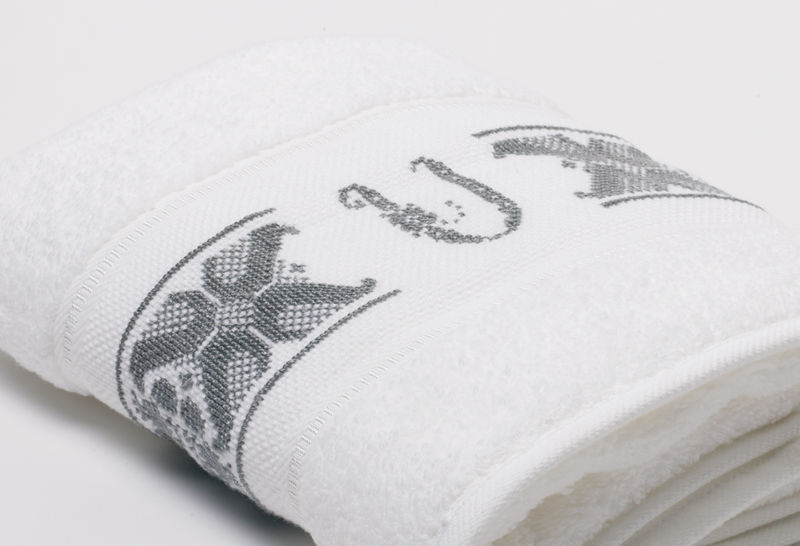 Hand-Embroidered Personalised Towel with Initial — U - product images  of
