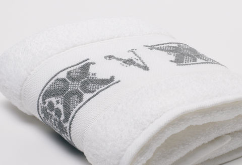 Hand-Embroidered Personalised Towel with Initial — V - product images  of