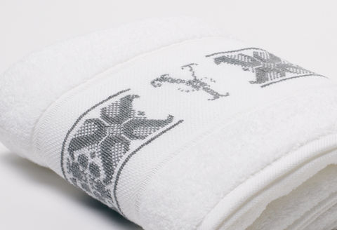 Hand-Embroidered Personalised Towel with Initial — Y - product images  of