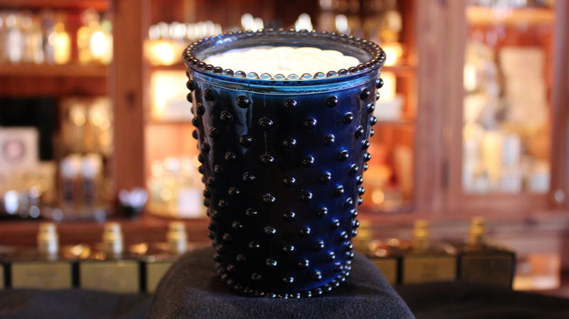 Ambergris Glass Hobnail Candle - product images  of