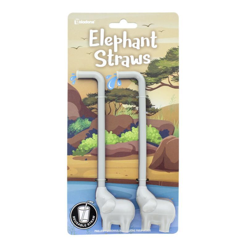 Elephant Reusable Straws - 2 Straws in 1 Pack - FREE P&P! - product images  of
