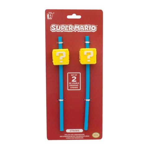 Officially,Licensed,Super,Mario,Straws-,2,Straws,in,1,Pack,-,FREE,P&P!,straws