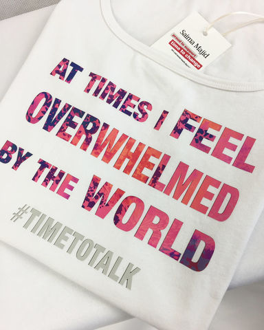 AT,TIMES,I,FEEL,OVERWHELMED,BY,THE,WORLD,TSHIRT,AT TIMES I FEEL OVERWHELMED BY THE WORLD T-SHIRT, mental health tshirt, mental wellness, headstogether, mental health awareness, mental health recovery, bettertogether, youngminds, timetotalk, ladies t-shirts, ladies sportswear, sports clothing, gym wear