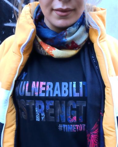 MY,VULNERABILITY,IS,A,STRENGTH,VEST,I AM SENSTITIVE T-SHIRT, mental health tshirt, mental wellness, headstogether, mental health awareness, mental health recovery, bettertogether, youngminds, timetotalk, ladies t-shirts, ladies sportswear, sports clothing, gym wear, gym clothing, slogan t-s
