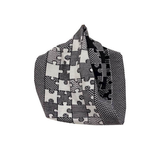 PUZZLE Infinity Scarves - Black and white colourway - product images  of