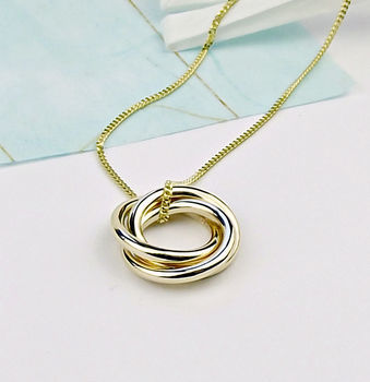Solid Gold Trio Necklace - product images  of