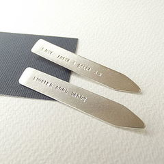 Personalised,Sterling,Silver,Collar,Stiffeners,personalised sterling silver collar stiffeners, custom hidden message sterling silver collar stiffeners, personalised gift for dad, personalised gift for daddy, father's day gift, hidden message anniversary gift, valentine gift, silversyne