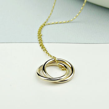 Solid Gold Circle Eternity Necklace - Slim - product images  of