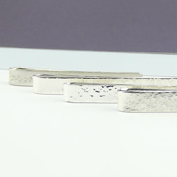 Personalised Sterling Silver Tie Slide - Secret Silver - product images  of