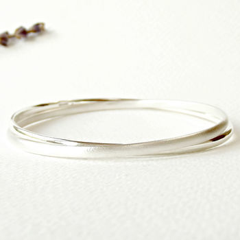 Simple Silver Handmade Eternity Bangle - product images  of