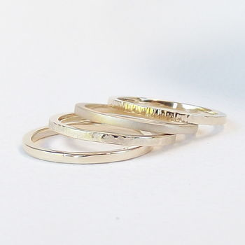 Solid Nine Carat Gold Stacking Ring - product images  of