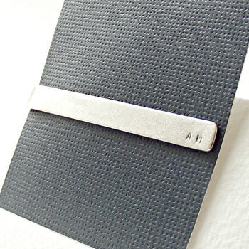 Personalised Sterling Silver Initial Tie Slide - product images  of